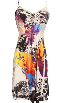 Graphic Sublimation Sundress Knee Length