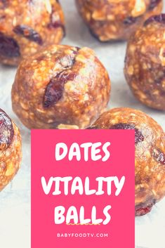 How to Make Soft Dates, Cashew & Coconut Vitality Balls Recipe for Toddlers (1 Year +)  Ingredients: 100 gr - soft seedless Dates 1 Fistful Cashew Nuts  2 tbsp shredded coconut + extra for dusting
