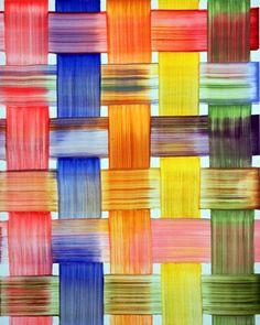 Bernard Frize ~ Caisse, 1997 (acrylic and resin on canvas)