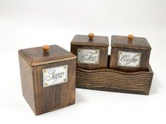 Handcrafted Wooden Antique Look Tea Coffee Sugar 3 Piece Canister Set Made of Mango Wood Large The Modish Store,http://www.amazon.com/dp/B00B0ROX64/ref=cm_sw_r_pi_dp_nqbMsb0G3J5EB75W