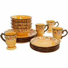 Tuscan Dinnerware | Very Tuscan Dinnerware set and just $35 for 16-pieces. | Tabletops