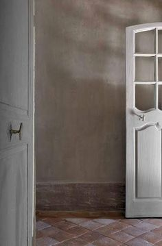 Doors And Floors, Windows And Doors, French Country House, French Country Decorating, French Cottage, Lime Paint, Haute Provence, Antique Doors, Internal Doors
