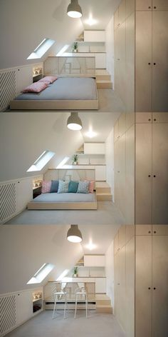 Unbelievable Attic Storage Australia Ideas 4 Stupendous Tips: Attic Design … Attic Loft, Loft Room, Attic Rooms, Attic Office, Attic Bathroom, Attic Bed, Bed Room, Garage Attic, Office Bed