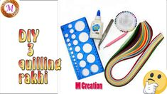 3 quilling rakhi making/latest quilling rakhi making Quilling Rakhi, Rakhi Making, Make Photo, Paper Quilling, Making Ideas, Make It Yourself, How To Make, Handmade, Hand Made
