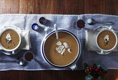 Chestnut and lentil soup