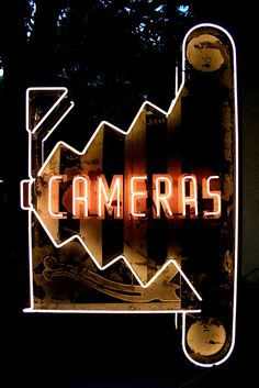 'CAMERAS' -NEON SIGN ๑෴MustBaSign෴๑