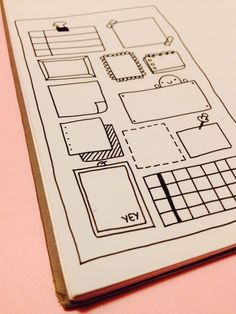 Drawing Doodles Ideas some new frame ideas for my bullet journal More - Journal Layout, My Journal, Journal Pages, Journal Ideas, To Do Planner, Planner Ideas, Sketch Notes, Bullet Journal Inspiration, Smash Book