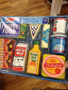 Wooden toy food by Melissa and Doug