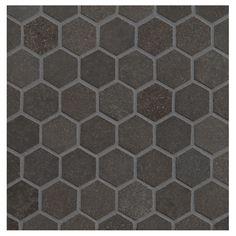 """Basalto - 1"""" Hexagon"""