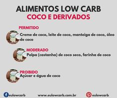 LOW CARB: ALIMENTOS PERMITIDOS, MODERADOS E PROIBIDOS Diet Diary, Dieta Low, Light Diet, Low Carbon, Low Carb Diet, Food And Drink, Cooking Recipes, Keto, Good Food