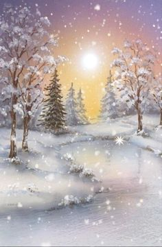 Christmas Scenery, Winter Scenery, Christmas Games, Christmas Pictures, Family Fun Games, I Love Snow, Landscape Artwork, Contemporary Landscape, Diy For Men