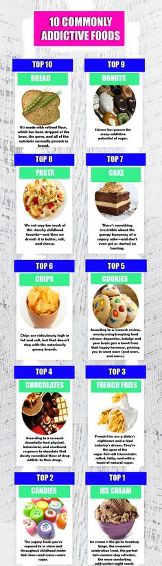 The 10 Most Commonly Addictive Foods #Infographics #food #health — Lightscap3s.com