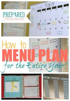 Menu Plan For The Entire Year & Get Your Food Storage Done at the Same Time! Prepared-Housewives.com #mealplanning #foodstorage