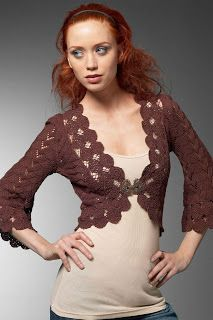 Artesanato em trico e croche: Boleros e coletes