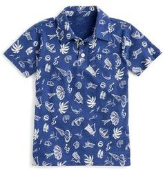 crewcuts by J.Crew Beach Print Polo (Toddler Boys, Little Boys & Big Boys) Big Boys, Little Boys, Printed Shirts, Men's Shirts, Beach Print, Toddler Boys, J Crew, Handsome, Men Casual