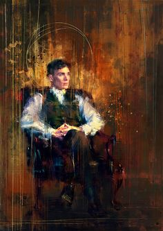 Beautiful painting of Thomas Shelby from Peaky Blinders Peaky Blinders Poster, Peaky Blinders Wallpaper, Peaky Blinders Thomas, Cillian Murphy Peaky Blinders, Birmingham, Triquetra, Boardwalk Empire, Arte Pop, Cool Art
