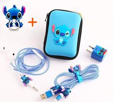 A set of Stitch phone accessories to keep your tech gear in out-of-this-world shape. 36 Magical Disney Products Even The Biggest Fans Probably Haven't Seen Before Lilo And Stitch Quotes, Lilo E Stitch, Cute Stitch, Iphone Accessories, Mobile Accessories, Disney Stich, Things To Buy, Stuff To Buy, Disney Merchandise