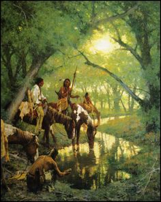 Howard Terpning — Cheyenne at the Disappearing Creek — ca 2000
