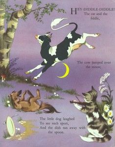 finding a lot of inspiration from vintage prints from nursery rhymes Kids Rhymes Songs, Nursery Rhymes Poems, Nursery Stories, Nursery Book, Rhymes For Kids, Children Rhymes, Hey Diddle Diddle, Old Children's Books, Cat Character