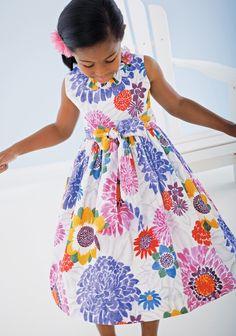 CWDkids: Girls: Childrens Clothing by Le Za Me, Children's Clothing Smock Dress, I Dress, Frocks For Girls, Girls Dresses, Little Girl Fashion, Kids Fashion, Children's Place, Flower Dresses, Designer Wear