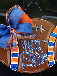 Auburn War Eagle Football Door Hanger by PaintedPriss on Etsy (Seawhawks maybe?)