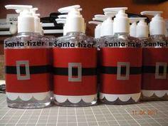 The teacher who Santa-ized the hand sanitizer.