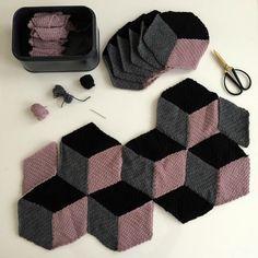 V comme... Vasarely, le plaid! Tuto gratuit crochet plaid en français.