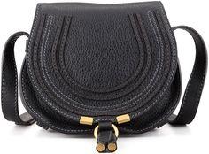 Chloe Marcie Small Leather Crossbody Bag, Black - $795.00