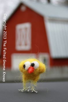 Felted Chick Decoration Chick Yellow Chick by susio on Etsy