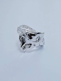 Ring sterling silver 925 hand crafted mother nature