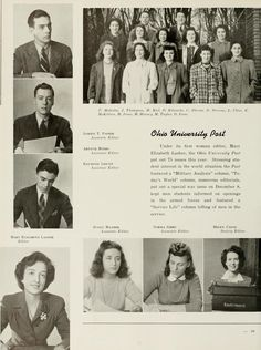 Athena yearbook, 1942. In 1941 Mary Elizabeth Lasher became the Post's first female editor. :: Ohio University Archives