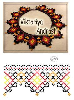 Natali Khovalko   VK Diy Necklace Patterns, Bead Loom Patterns, Beaded Jewelry Patterns, Beading Patterns, Beading Projects, Beading Tutorials, Beaded Ornaments, Seed Bead Jewelry, Handmade Beads