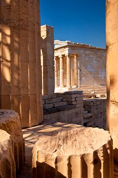 Ruins of Temple of Athena on the Acropolis, Athens, Greece