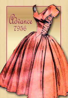 Full Skirted Dress Pattern 1950s Special by FloradoraPresents
