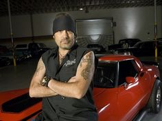 Danny Koker with one of the Corvettes he restored on HISTORYs Counting Cars.