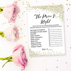 Get the party started with fun 'The price is right' game! Every baby shower has to have games and this one is the perfect ice breaker! #printable #babyshower #babyshowergames #babyshoweractivity #SHdesigns