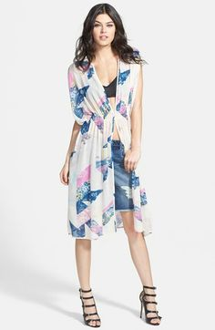 Tildon Graphic Print Kimono Cardigan // @Nordstrom