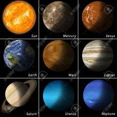 All Best Known Solar System Planets And The Main Star Sun Stock Photo,  Picture And Royalty Free Image. Image 37559342.