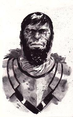 Gregor Clegane by Sam Bosma