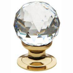 Baldwin 4334.260.S Swarovski Crystal Cabinet Knob, Polished Chrome