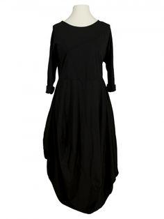 Damen Ballonkleid Baumwolle, schwarz von Made in Italy bei www.meinkleidchen.de