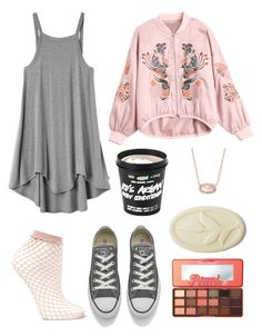 """""""Au Naturel"""" by averymsn on Polyvore featuring RVCA, Falke, Converse, Too Faced Cosmetics and Kendra Scott"""