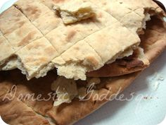 unleavened bread great base recipe. add herbs, spices to dough. cheese/salt on top. for breakfast sprinkle brown sugar & cinnamon on top before making. takes only about 12 minutes in my oven.