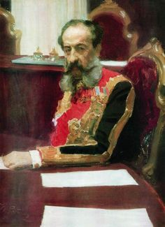 Portrait of member of State Council and Grand Chamberlain, Prince Mikhail Sergeyevich Volkonsky Ilya Repin · 1903