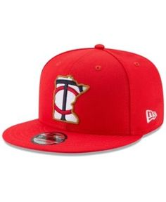 New Era Boys' Minnesota Twins Players Weekend 9FIFTY Snapback Cap - Blue Adjustable