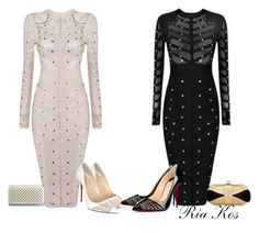 bandage dress by ria-kos on Polyvore featuring Christian Louboutin