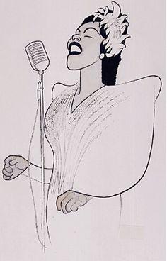 Billie Holiday by Al Hirschfeld