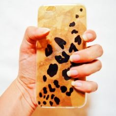 DIY Leopard Print Cellphone Case with tissue paper and sharpie – Makeful