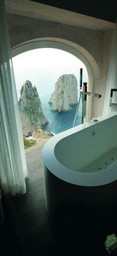 Room with a view ~ Capri, Italy ♠ re-pinned by http://www.waterfront-properties.com/