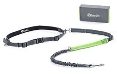 Hands Free Dog Leash for Running Walking Hiking Durable Bungee Leash with Handle - Reflective Stitching Adjustable Length 47' - 60' - Waist Belt ( Fits from 23' up to 55' waist ) ** Additional details at the pin image, click it  : Leashes for dogs